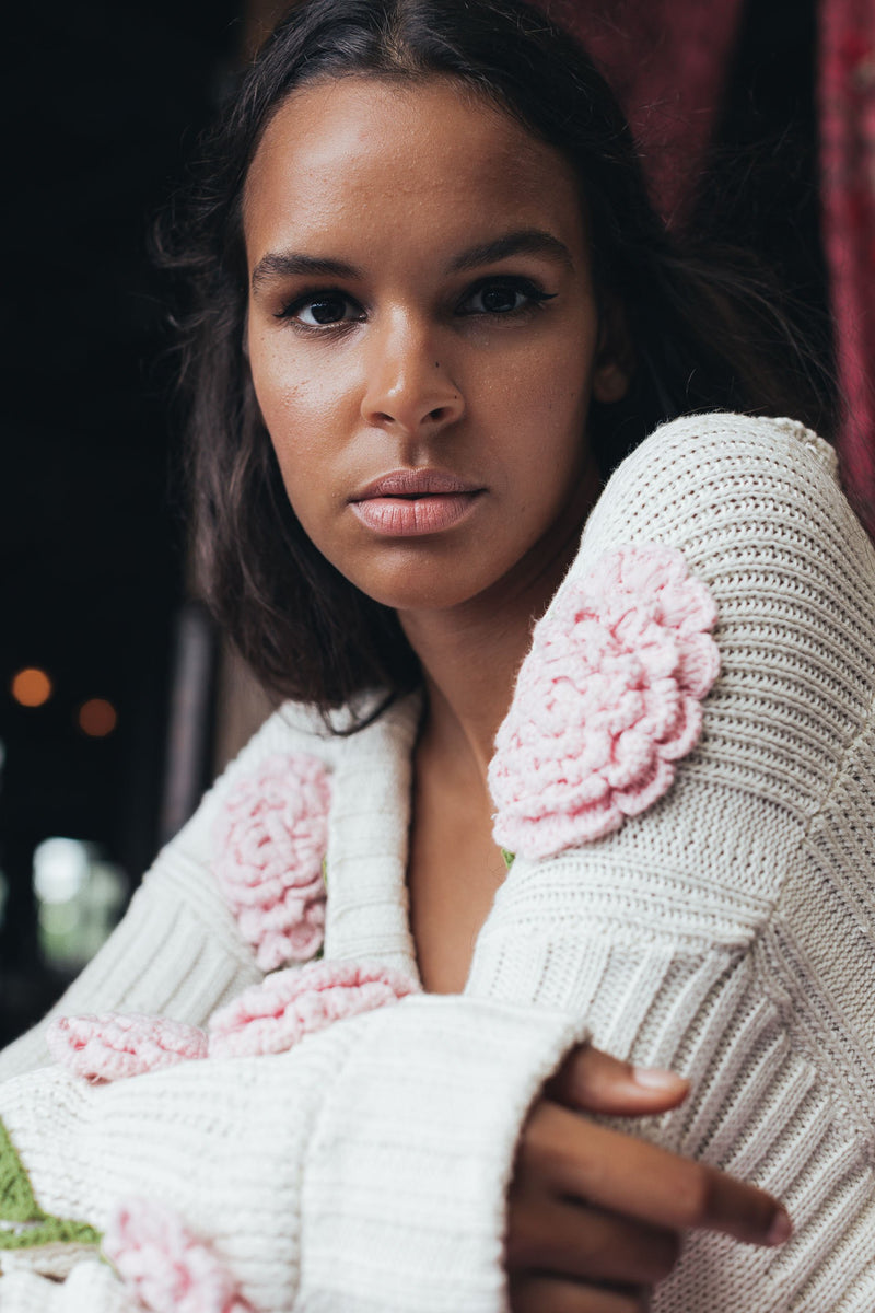 A Stitch In Time hand knitted sweater