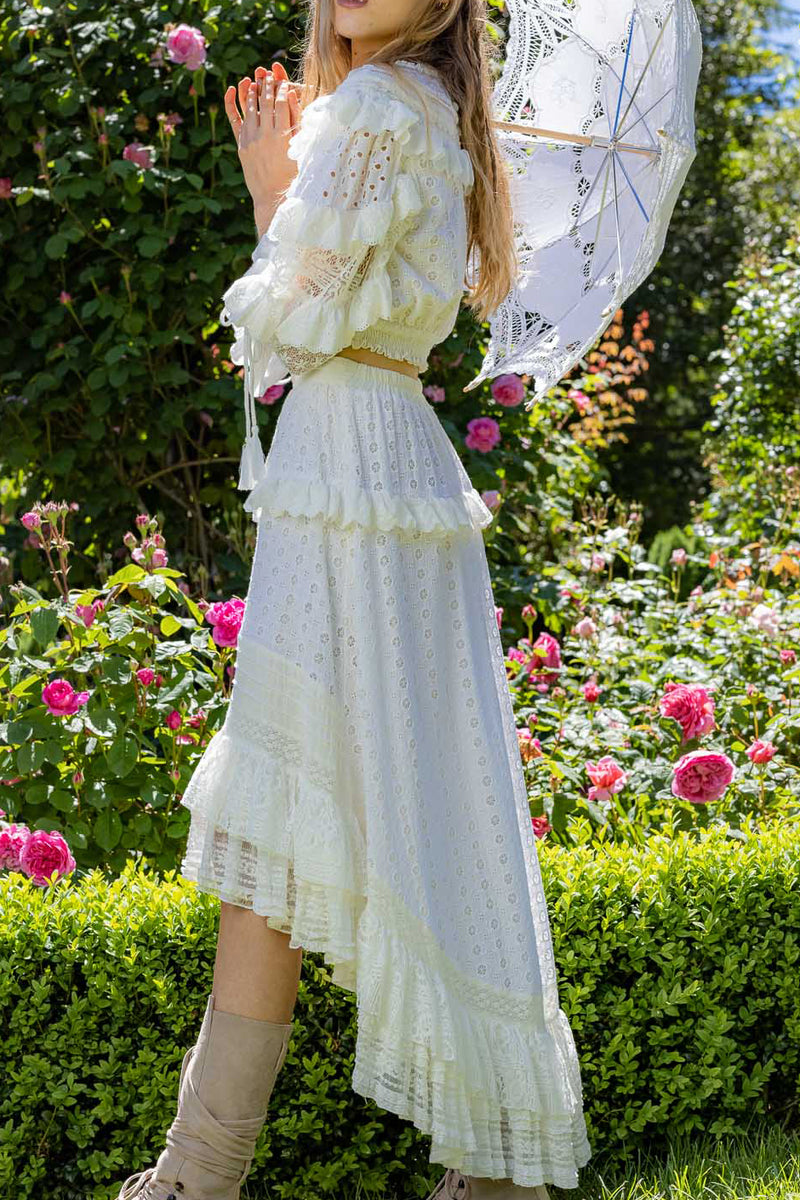 Beatie Bow - Top & Skirt Set in Ivory