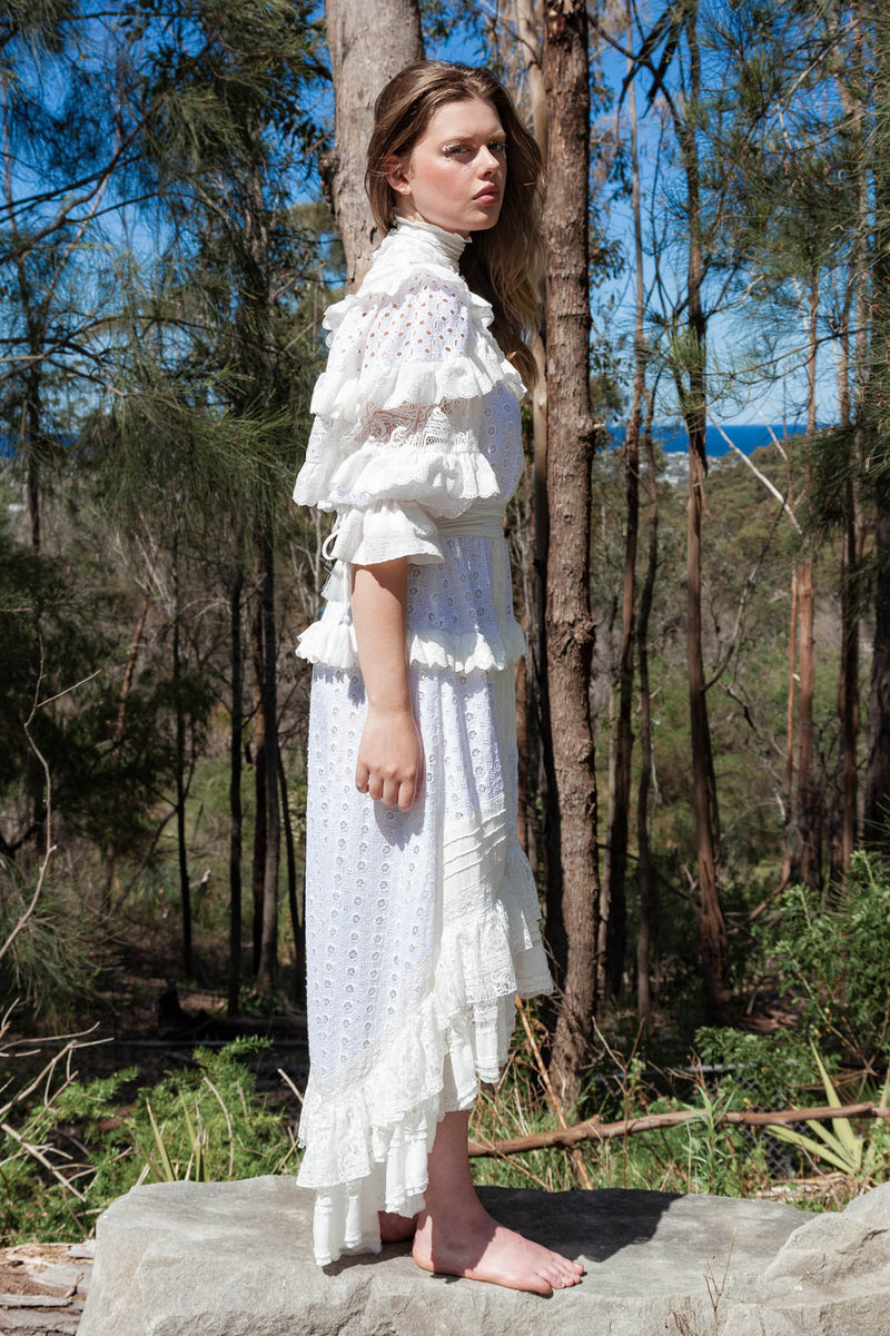 Beatie Bow - Pieced Gown in Ivory