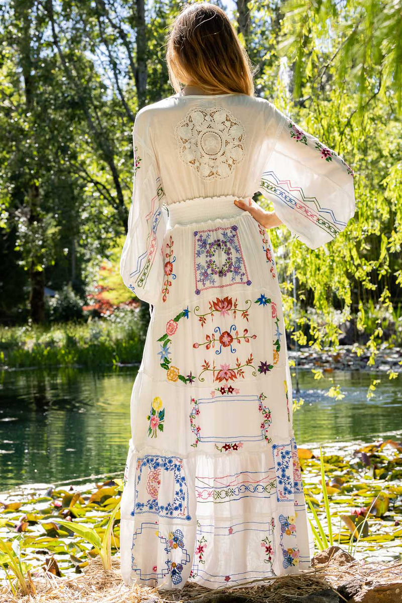 Dream In Colour Cottage Dress - Ivory