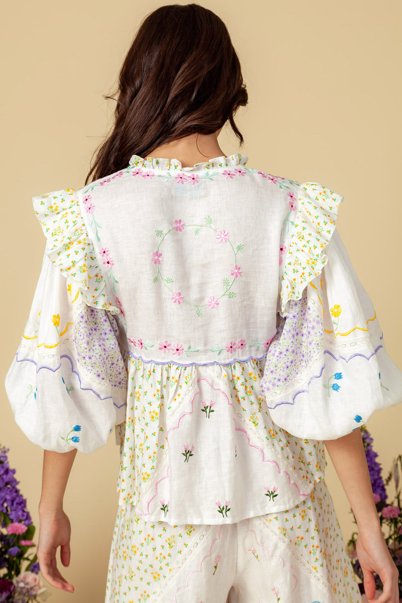 Carnival Ditsy Blouse - Lilac