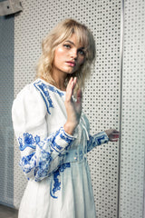 FILLYBOO - 'COLETTE' - EMBROIDERED & PRINTED DAY DRESS