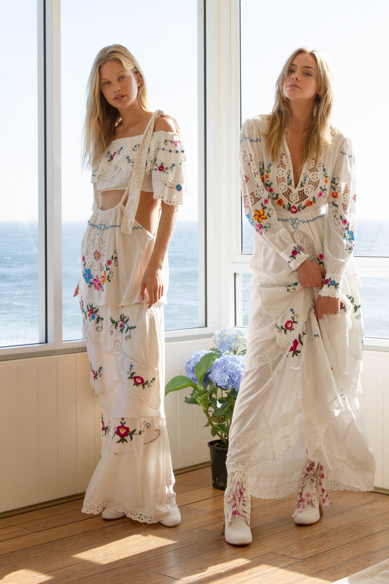 'DOLL HOUSE' - EMBROIDERED MAXI DRESS