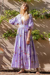 Dream In Colour - Embroidered Maxi Dress in Lavender