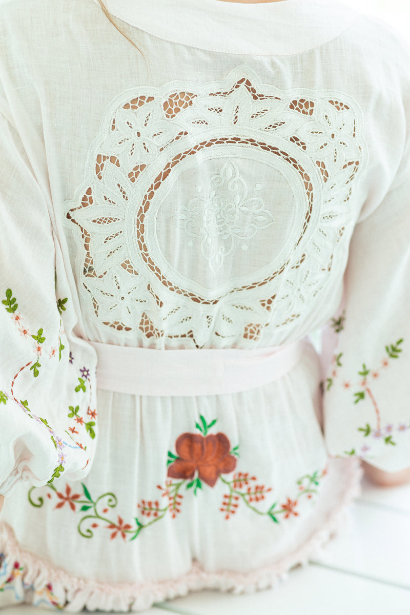 Dream In Colour - Embroidered Mini Dress