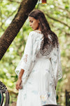 I AM LOLA - embroidered duster & maxi dress - Ivory