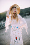 'LITTLE BEAR' - HAND EMBROIDERED MAXI DRESS - IVORY