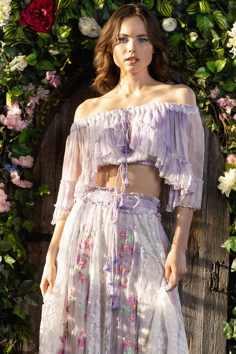 Love Street Set - Top & Skirt in Lilac