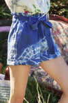Love Street - Paperbag Short in Blue
