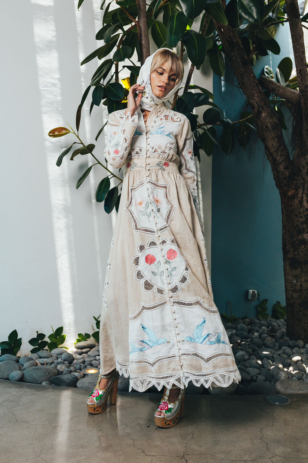 Mirror Mirror - Embroidered maxi dress/duster