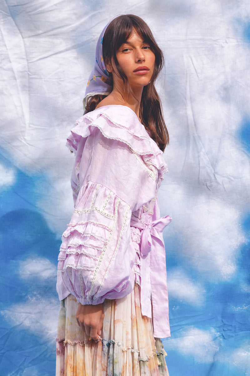 Neverland - Blouse in Lilac
