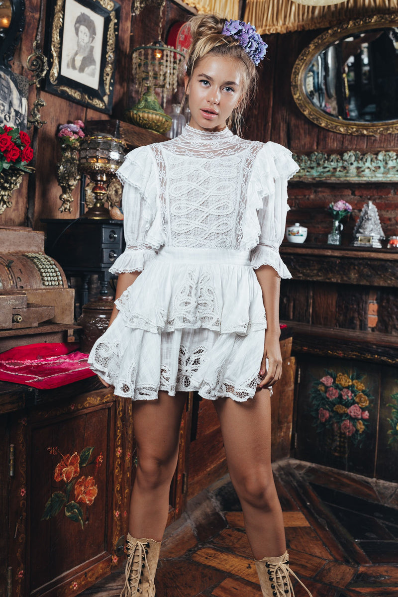 Penzance - Embroidered mini dress