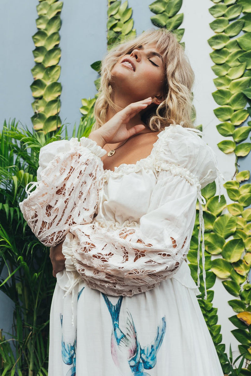Roses Lately embroidered maxi dress