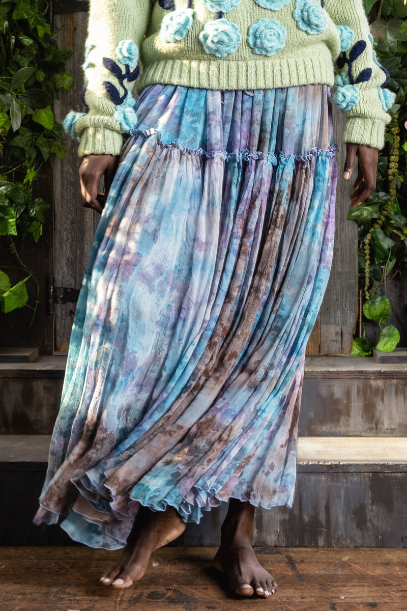 Santa Monica - Ballerina Maxi Skirt in Winter Tie Dye