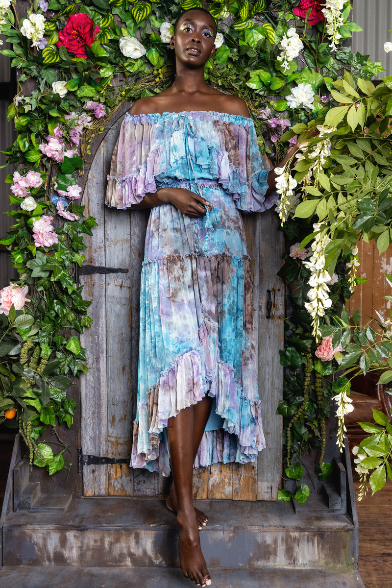 Santa Monica - Tambourine Maxi Dress in Winter Tie Dye
