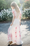 'LOVE ON TIME' - EMBROIDERED MAXI DRESS