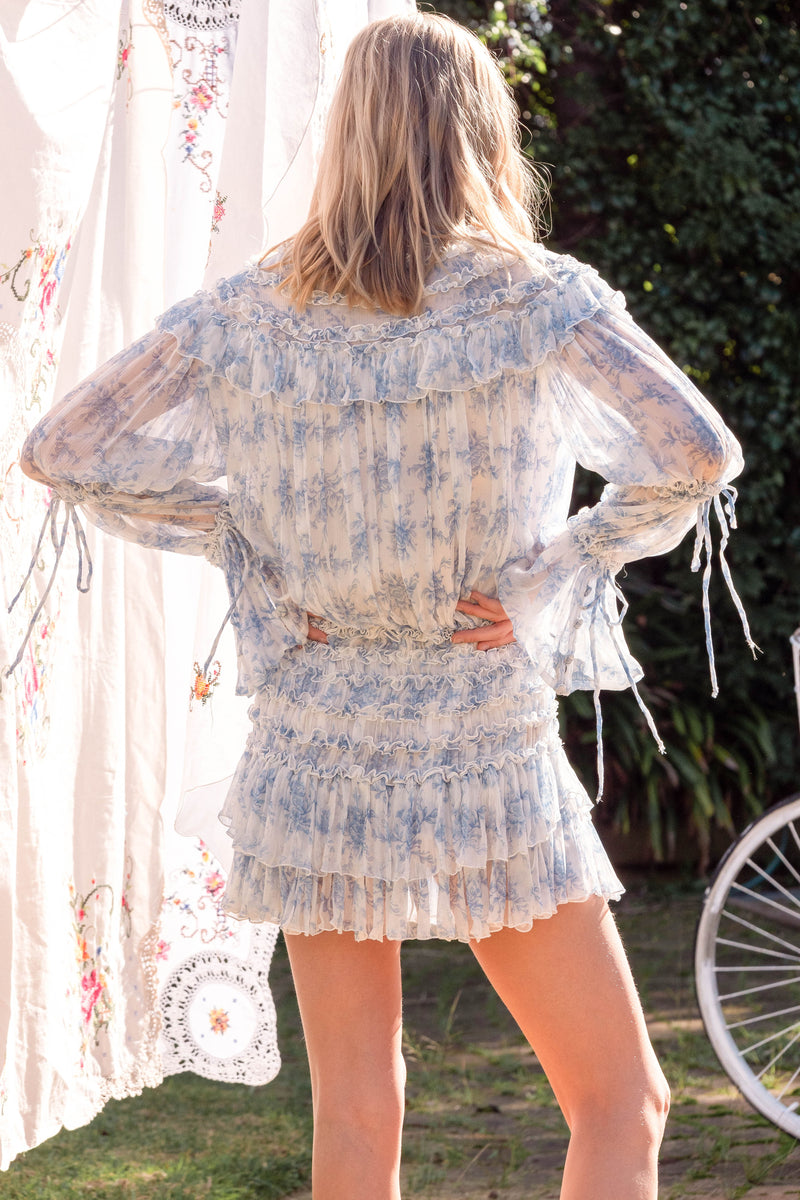 Toulouse mini dress - Sunday Blue
