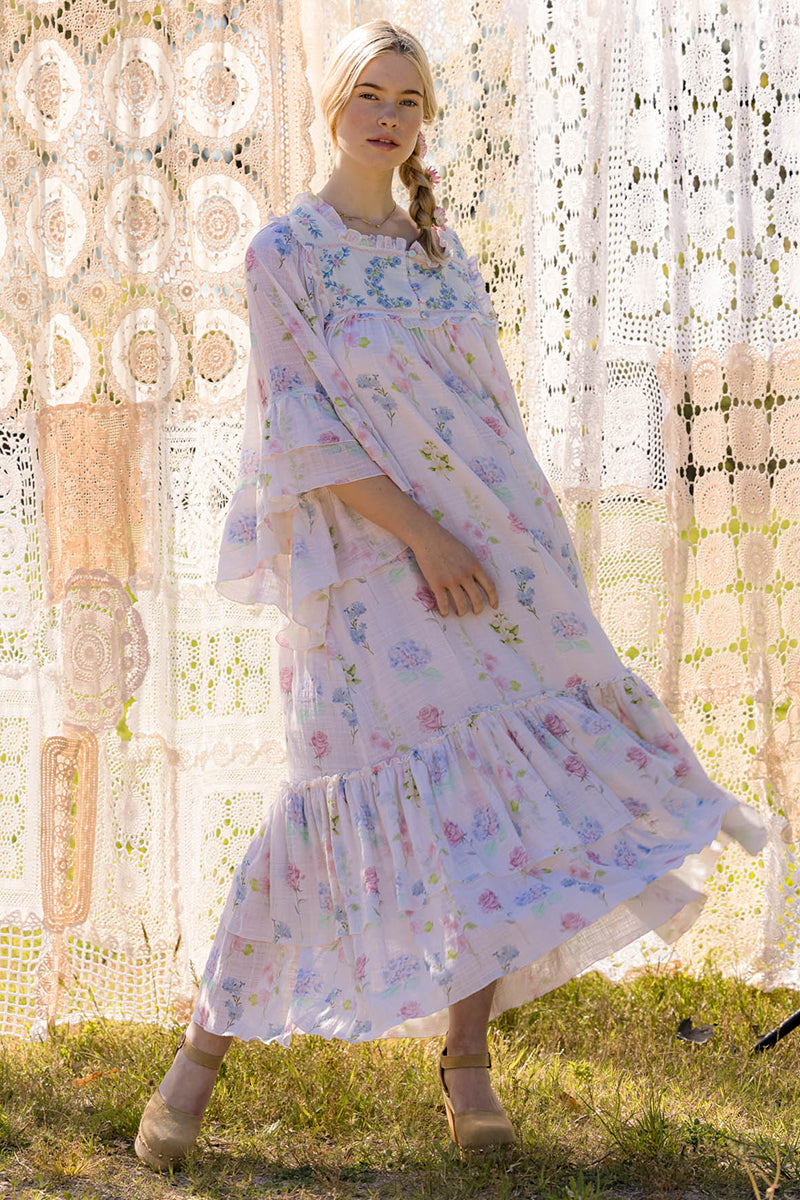 Wall Flower - Kimono Maxi Dress