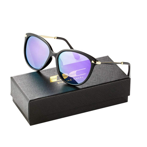 Diamond Candy Classic Round Polarized Sunglasses Vintage Sun Glasses For Women
