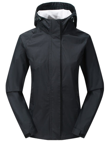 Diamond Candy Women Hooded Waterproof Rain Jacket Lightweight Mountain Jacket Packable Outdoor Casual Sportswear