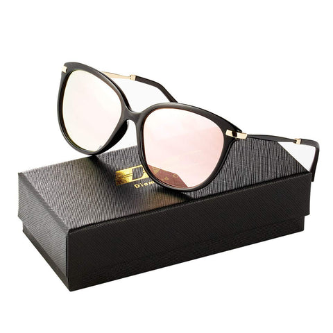 Diamond Candy Classic Round Polarized Sunglasses Vintage Mirrored Glasses For Women