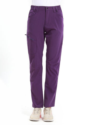 Diamond Candy Women's Lightweight Quick-Dry Hiking Mountaineering Softshell Outdoor Activewear Pants Purple