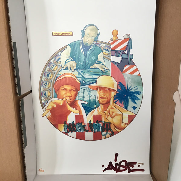 "West Adams Block Party - Limited Edition Aise Born Poster Print (11""x17"")"