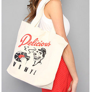Delicious Vinyl canvas bag