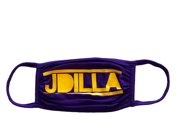 J Dilla face mask - purple & gold