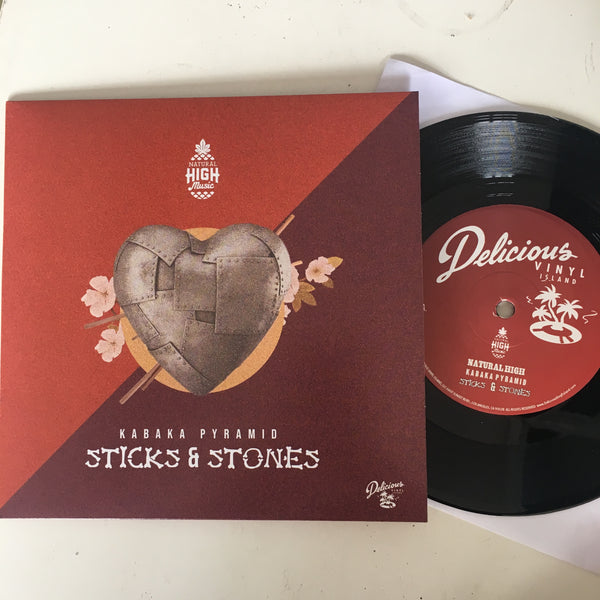"Natural High Music x Kabaka Pyramid ""Sticks & Stones"" 7"" single"