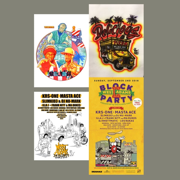 "West Adams Block Party Limited Edition Poster Print Set of 4 (18""x24"")"
