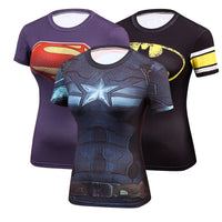 50% Off!! Limited Time Women's Comic Hero Compression Shirts