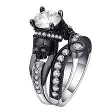 Load image into Gallery viewer, Cubic Zirconia Skull Ring Set