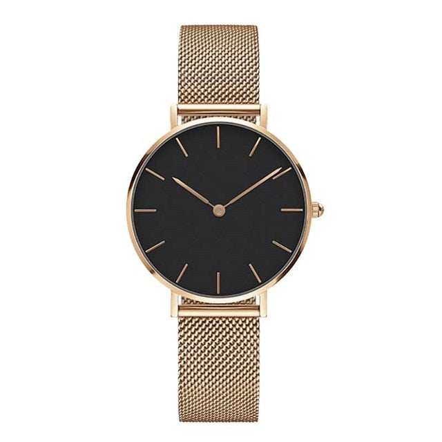 Rose Gold Analogue Stainless Steel Watch