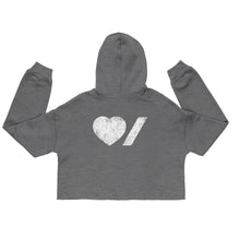 Load image into Gallery viewer, Heart & Stroke Ladies Cropped Hoodie