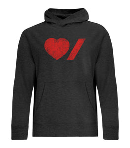 Heart & Stroke Limited Edition Distressed Adult Unisex Pullover Hoodie
