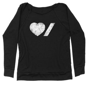 Heart & Stroke Made in Canada Ladies Off-Shoulder sweatshirt