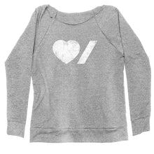 Load image into Gallery viewer, Heart & Stroke Made in Canada Ladies Off-Shoulder sweatshirt