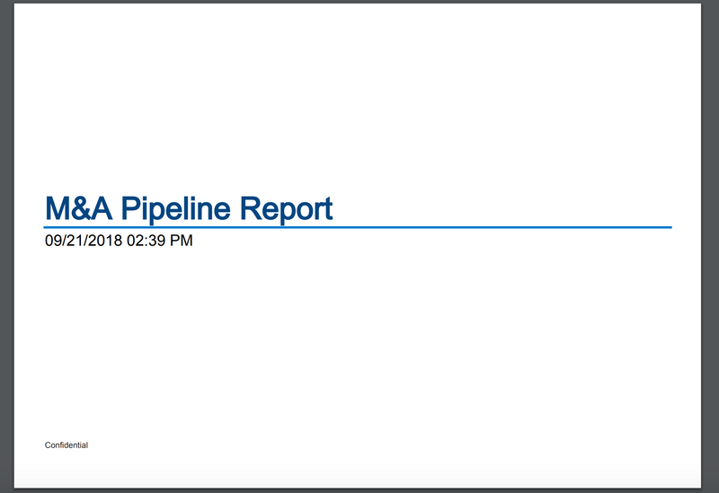 M&A Pipeline Reporting Pack