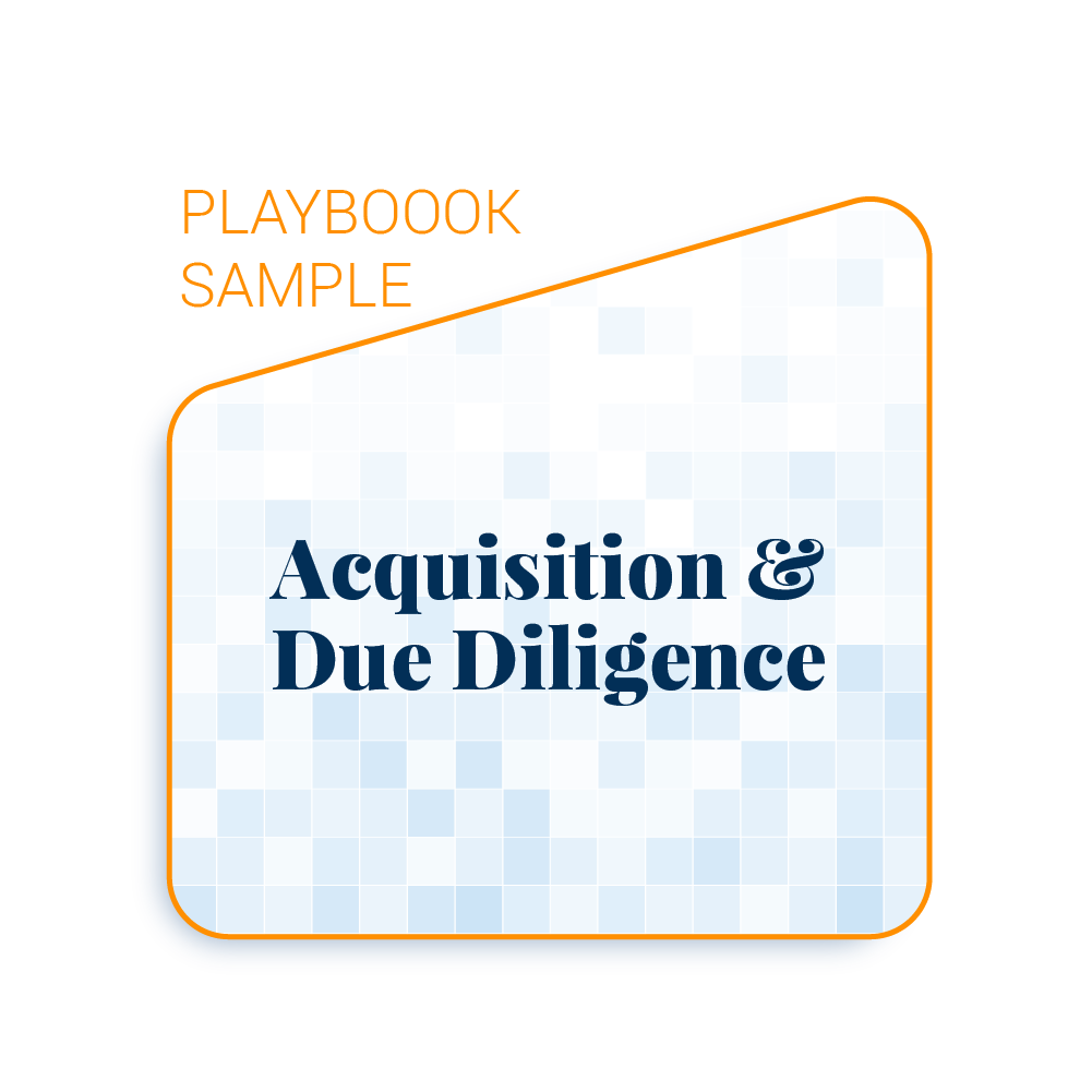 Playbook Sample: Acquisition & Due Diligence