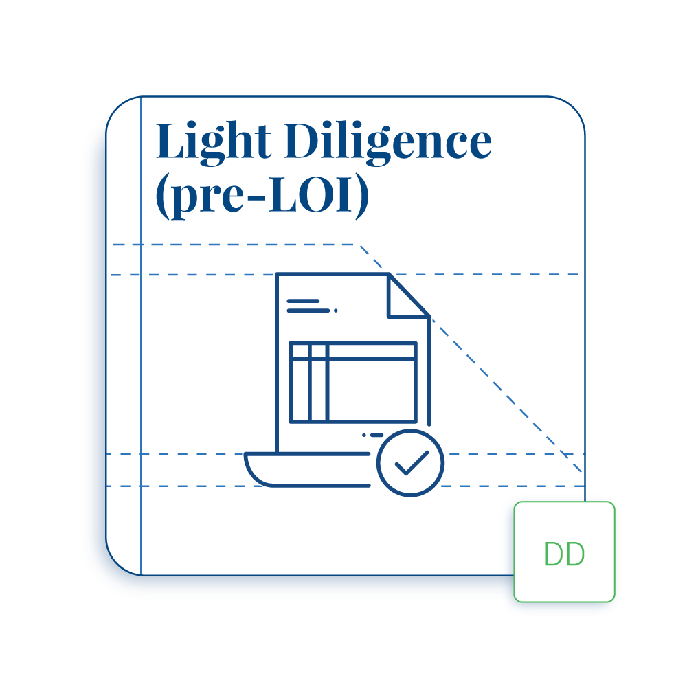 Due Diligence Playbook – Light Diligence (Pre-LOI)