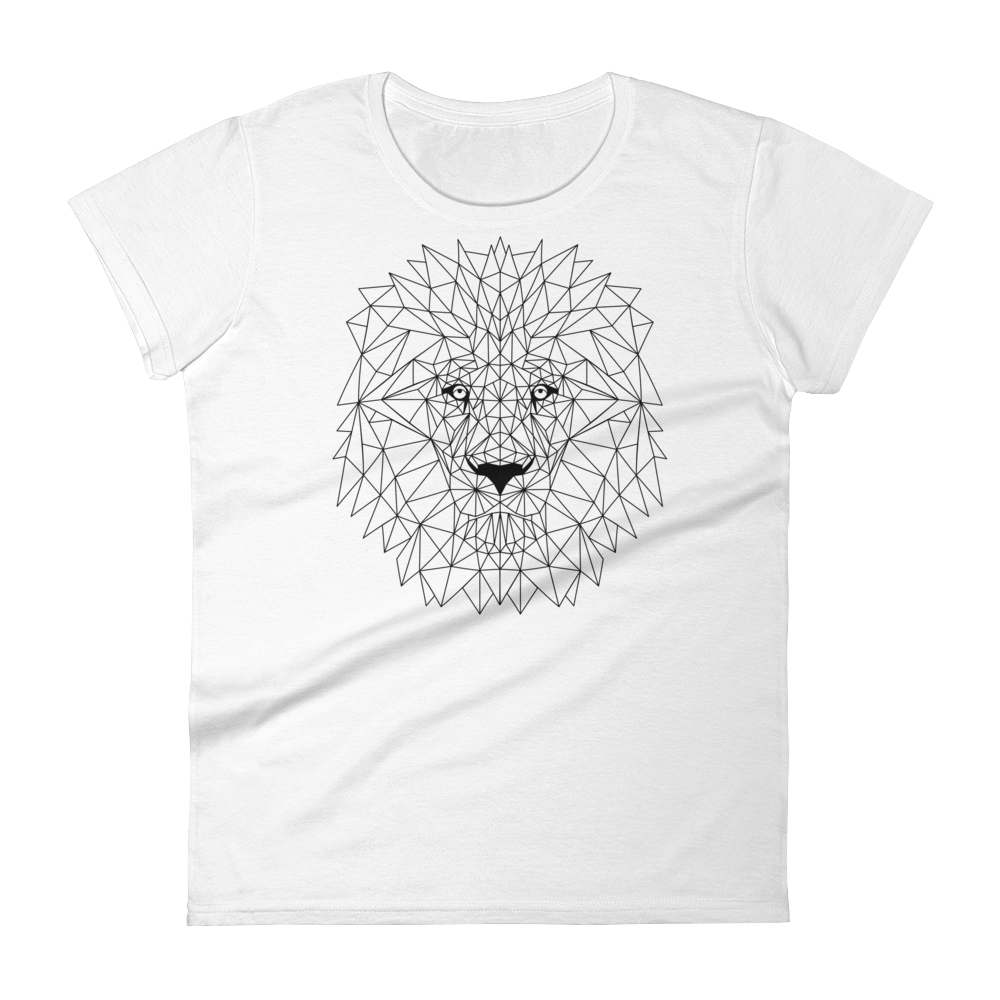 Women's White T-Shirt with LION Design
