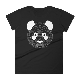 Women's Black T-Shirt with PANDA Design