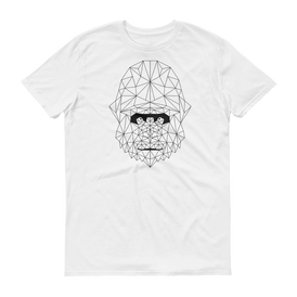 Men's White T-Shirt with MONKEY Design