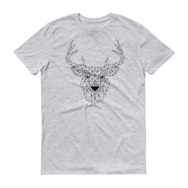 Men's Grey T-Shirt with DEER Design
