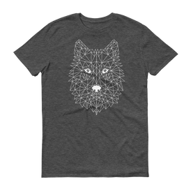 Men's Dark Grey T-Shirt with WOLF Design