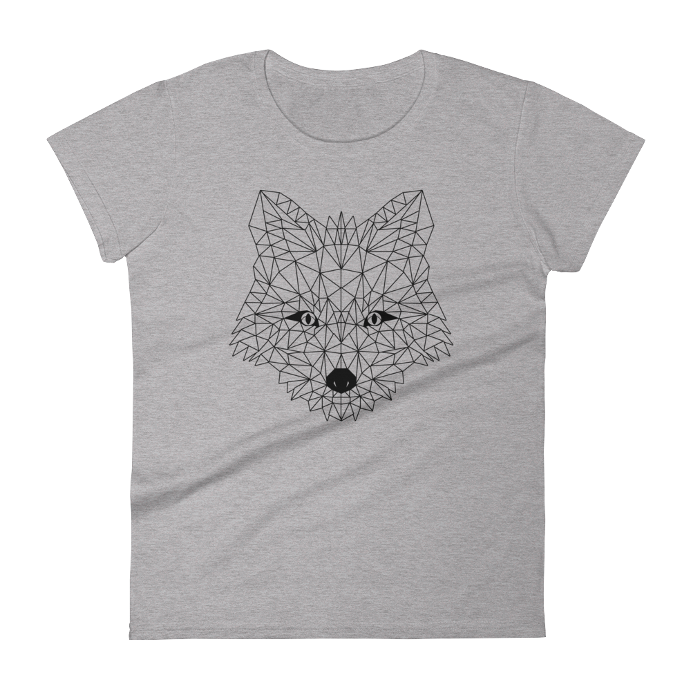 Women's Grey T-Shirt with FOX Design