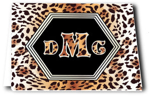 Animal Print Notes Monogrammed