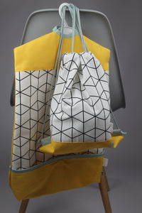 Ovis szett - yellow geometric