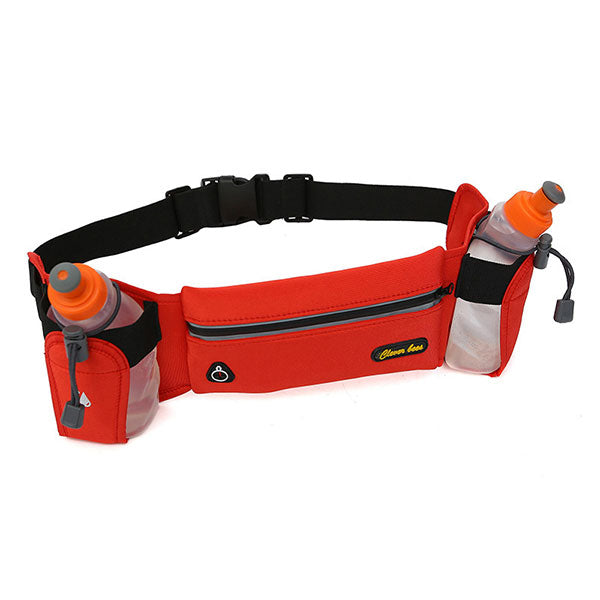Sporty Fanny Pack with Two Water Bottle Pouch